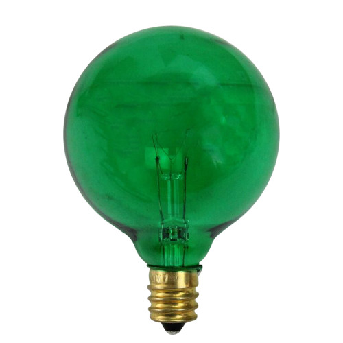 Pack of 25 Incandescent G50 Green Christmas Replacement Bulbs - IMAGE 1