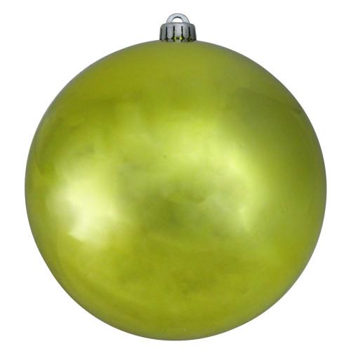 "Shiny Kiwi Green UV Resistant Shatterproof Christmas Ball Ornament 8"" (200mm) - IMAGE 1"