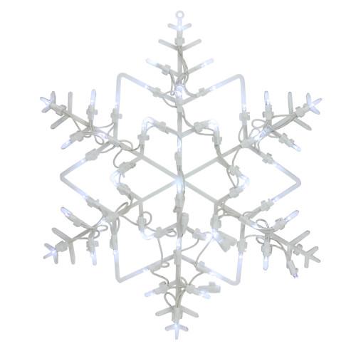 "18"" LED Lighted Snowflake Christmas Window Silhouette Decoration - IMAGE 1"