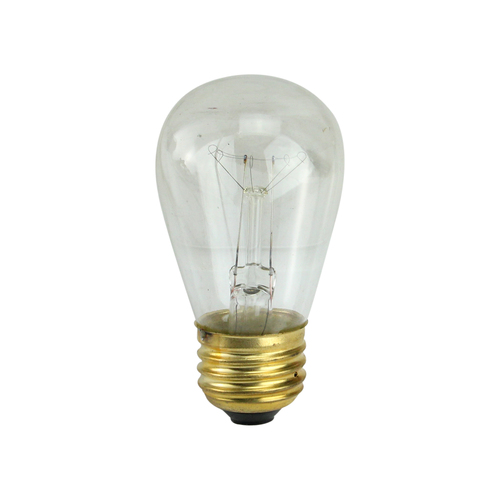 Pack of 25 Incandescent S14 Clear Christmas Replacement Bulbs - IMAGE 1