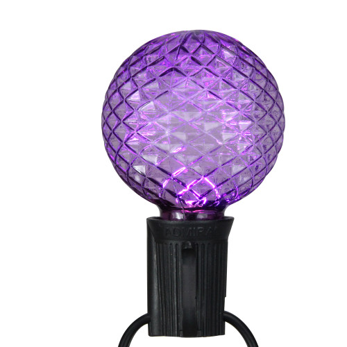 Pack of 25 Faceted LED G50 Multi-Color Christmas Replacement Bulbs - IMAGE 1