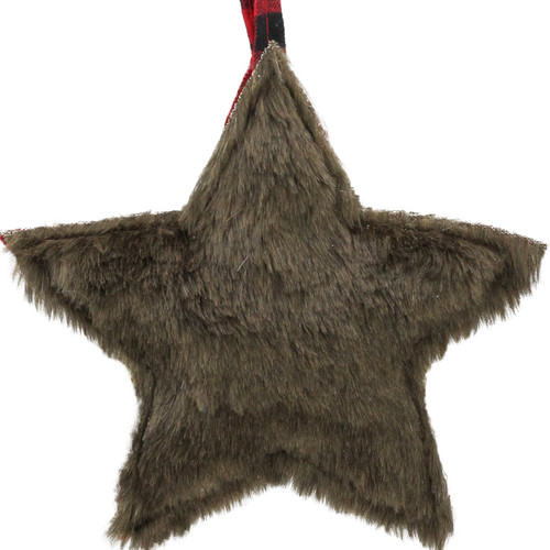 """8"""" Black and Red Rustic Star Christmas Ornament - IMAGE 1"""