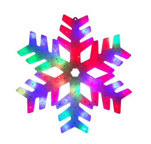 "15"" LED Color Changing Christmas Snowflake Window Silhouette - IMAGE 1"