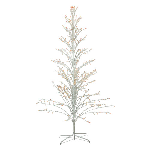 6' White Lighted Christmas Cascade Twig Tree Outdoor Decoration - Clear Lights - IMAGE 1