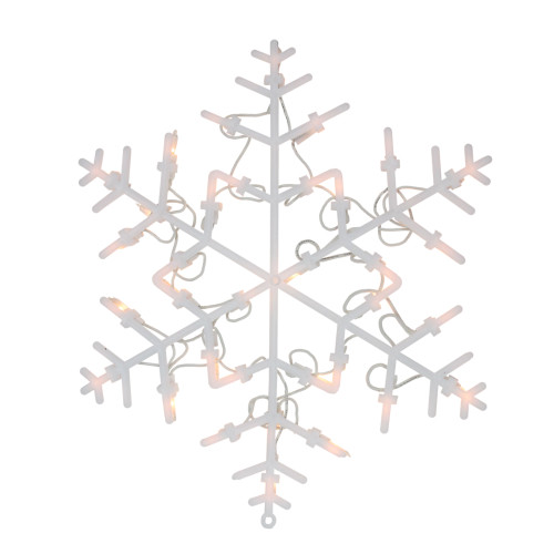 "13.5"" Lighted Snowflake Christmas Window Silhouette Decoration - IMAGE 1"