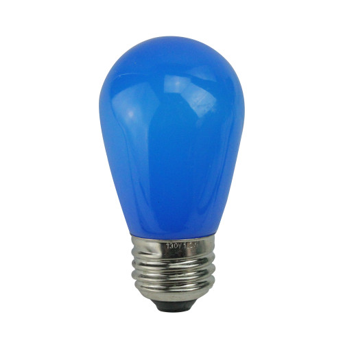 Pack of 25 Opaque LED S14 Blue Christmas Replacement Bulbs - IMAGE 1
