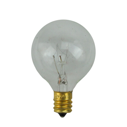 Pack of 25 Incandescent G40 Clear Christmas Replacement Bulbs - IMAGE 1