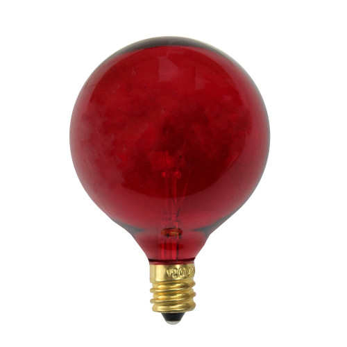 Pack of 25 Incandescent G50 Red Christmas Replacement Bulbs - IMAGE 1