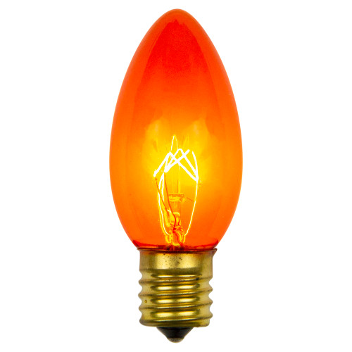 Pack of 25 Incandescent C9 Orange Christmas Replacement Bulbs - IMAGE 1