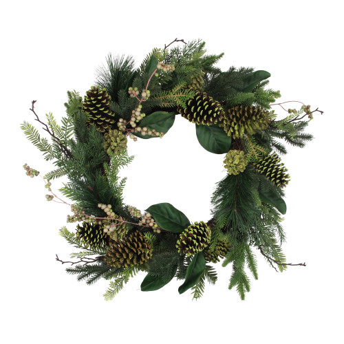 Berries and Pine Cone Artificial Christmas Wreath - 24-Inch, Unlit - IMAGE 1