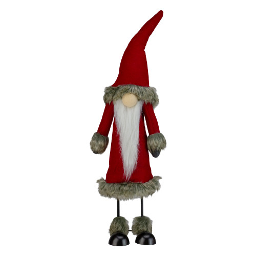"17"" Red and White Santa Gnome Christmas Figurine - IMAGE 1"