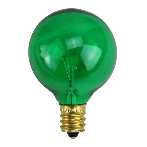 Pack of 25 Incandescent G40 Green Christmas Replacement Bulbs - IMAGE 1