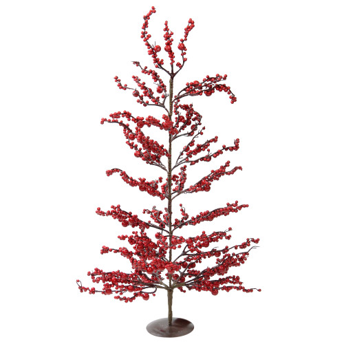 """30"""" Festive Artificial Red Berries Christmas Tree - Unlit - IMAGE 1"""