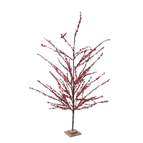 5' Brown and Red Berries Artificial Christmas Tree - Unlit - IMAGE 1