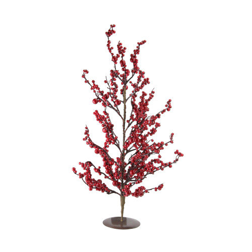 """23.5"""" Festive Artificial Red Berries Christmas Tree - Unlit - IMAGE 1"""