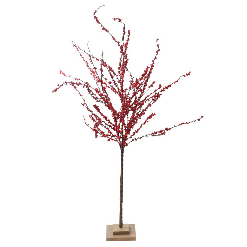 """50"""" Pencil Artificial Christmas Tree with Red Berries - Unlit - IMAGE 1"""