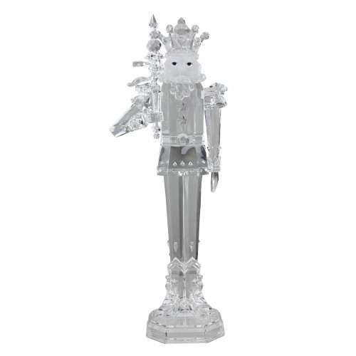 """17.5"""" Icy Crystal Decorative King with Scepter Christmas Nutcracker - IMAGE 1"""