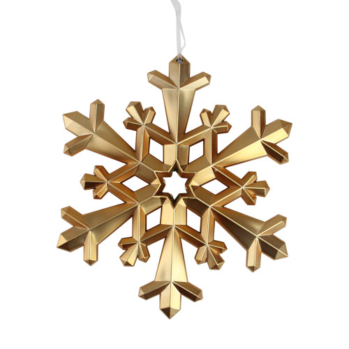 """8.75"""" Nature's Luxury Snowflake Commercial Size Copper Christmas Tree Ornament - IMAGE 1"""
