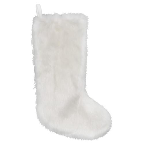 "19"" White Slimline Contemporary Christmas Stocking with Cuff - IMAGE 1"