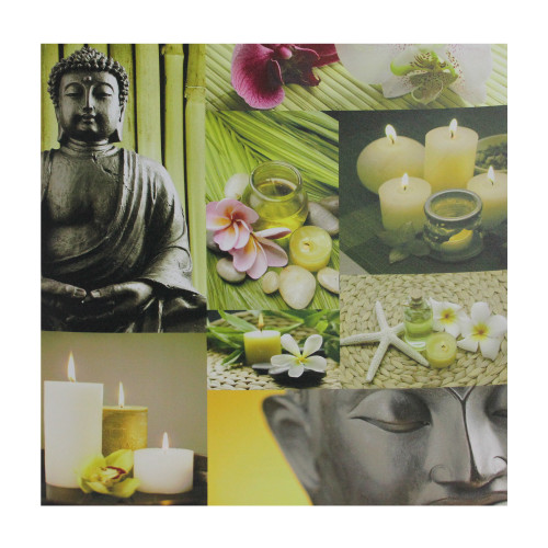 """LED Lighted Buddha Collage Canvas Wall Art 19.75"""" x 19.75"""" - IMAGE 1"""
