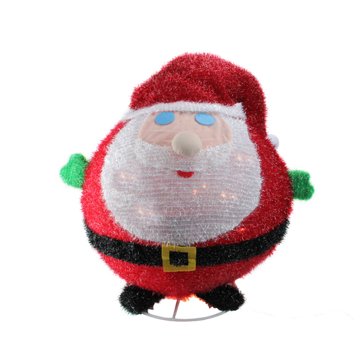 """22"""" Pre-Lit Red and White Collapsible Christmas Santa Claus Outdoor Decor - IMAGE 1"""