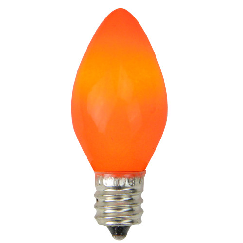 Pack of 25 Opaque Orange C7 Christmas Replacement Bulbs - IMAGE 1