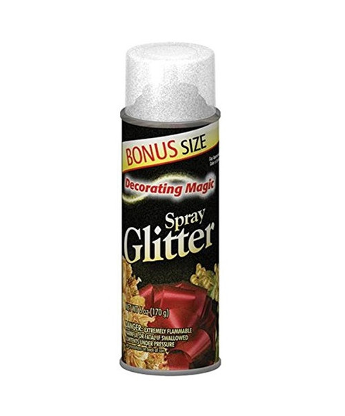 Decorating Magic Silver Glitter Christmas Spray - 6 Ounces - IMAGE 1