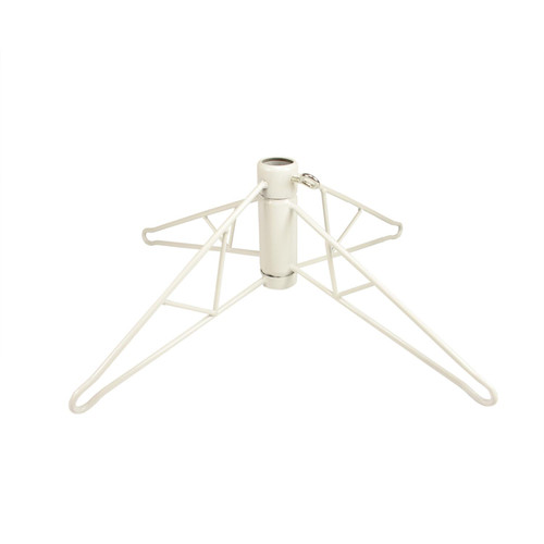 White Metal Christmas Tree Stand for 4.5' Artificial Trees - IMAGE 1