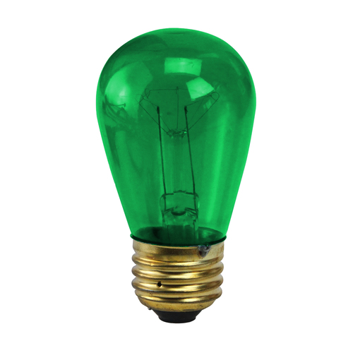 Pack of 25 Incandescent S14 Green St Patrick's Day Replacement Bulbs - IMAGE 1