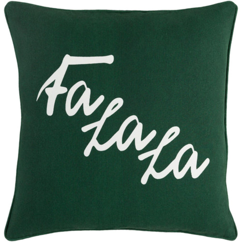 """18"""" White and Green Contemporary Screen Square Throw Pillow - Down Filler - IMAGE 1"""