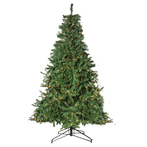 12' Pre-Lit 2-Tone Canadian Pine Commercial Artificial Christmas Tree - Warm White Lights - IMAGE 1