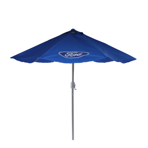 9ft Outdoor Patio Ford Umbrella with Hand Crank and Tilt, Blue - IMAGE 1