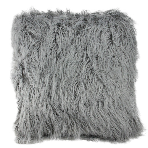 "18"" Cloud Gray Contemporary Square Throw Pillow - IMAGE 1"