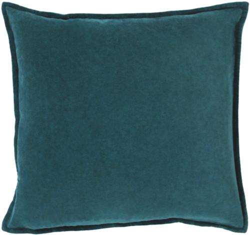"22"" Calma Semplicita Teal Blue Decorative Square Throw Pillow - IMAGE 1"