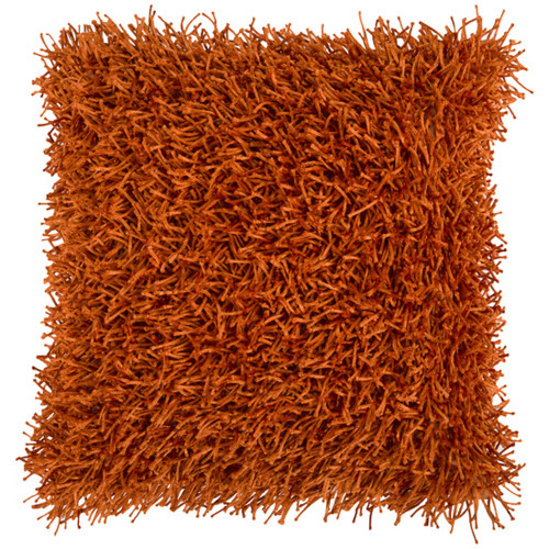 """22"""" Burnt Orange Solid Square Throw Pillow - Down Filler - IMAGE 1"""