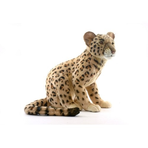 """16.75"""" Brown and Black Handcrafted Leopard Cub Stuffed Animal - IMAGE 1"""