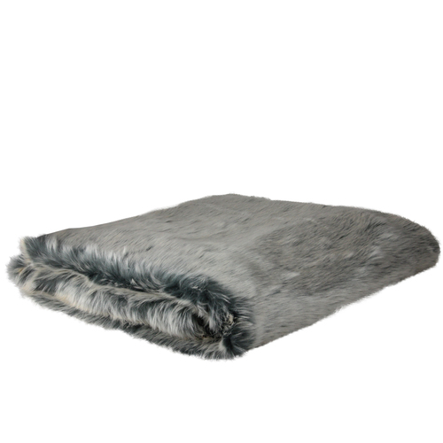 """White and Gray Solid Rectangular Throw Blanket 50"""" x 60"""" - IMAGE 1"""