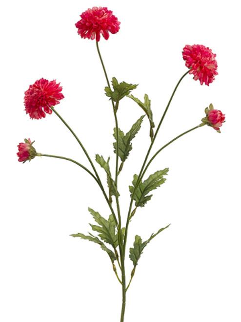 "Club Pack of 24 Artificial Red Pom-Pom Mum Silk Flower Sprays 28"" - IMAGE 1"