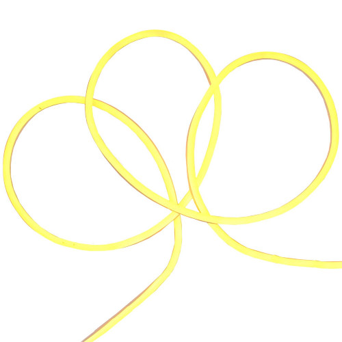 18' LED Commercial Grade Yellow Neon Style Flexible Christmas Rope Lights - IMAGE 1