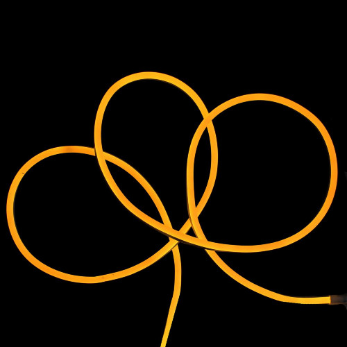 Yellow LED Commercial Grade Neon Style Flexible Christmas Rope Lights - 50 ft - IMAGE 1