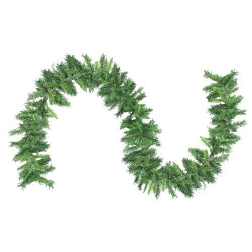 "9' x 10"" Mixed 2-Tone Pine Artificial Christmas Garland - Unlit - IMAGE 1"