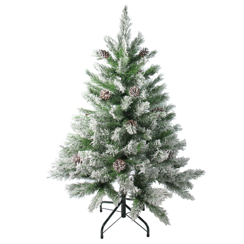 4' Flocked Angel Pine Artificial Christmas Tree - Unlit - IMAGE 1