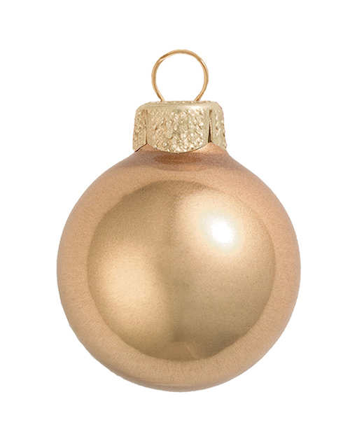 "Champagne Gold Glass Christmas Ball Ornament 4"" (100mm) - IMAGE 1"