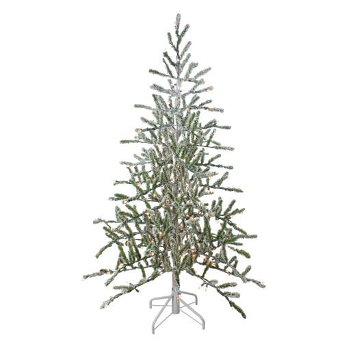5' Pre-Lit Medium Flocked Alpine Twig Artificial Christmas Tree - Warm White Lights - IMAGE 1