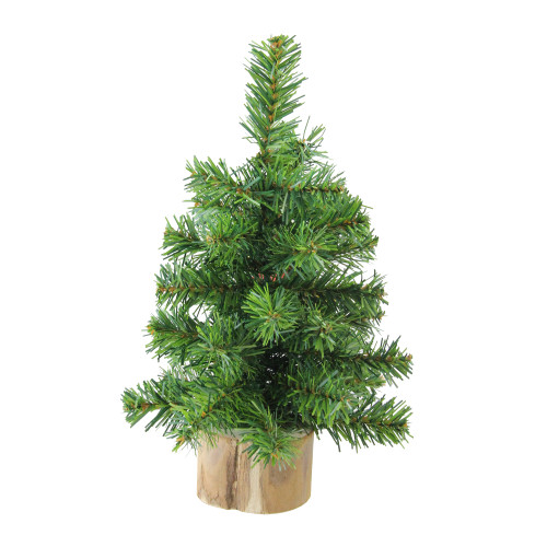 """10"""" Alpine Medium Artificial Christmas Tree with Wooden Base - Unlit - IMAGE 1"""