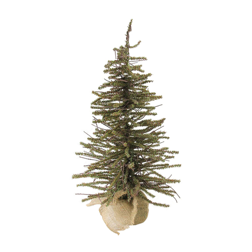 "18"" Warsaw Twig Artificial Christmas Tree in Burlap Base - Unlit - IMAGE 1"