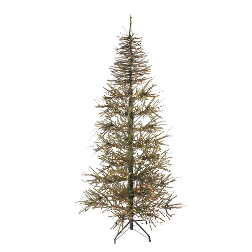 7' Pre-Lit Warsaw Two-Tone Twig Artificial Christmas Tree - Clear Lights - IMAGE 1