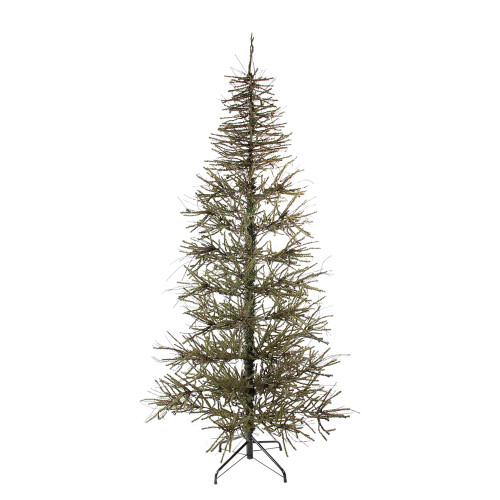6' Warsaw Two-Tone Twig Medium Artificial Christmas Tree - Unlit - IMAGE 1