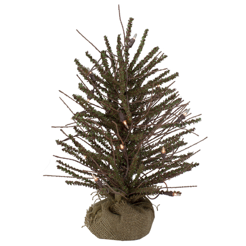 """18"""" Pre-Lit Potted Warsaw Twig Artificial Christmas Tree - Clear Lights - IMAGE 1"""