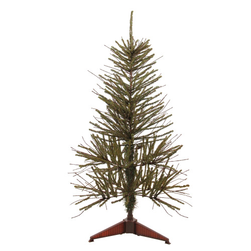 3' Green and Brown Medium Warsaw Twig Artificial Christmas Tree - Unlit - IMAGE 1